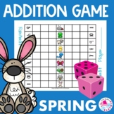 Spring Addition Facts Race to Win Game