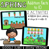 Spring Addition Facts and Ways to Add to 10 | DIGITAL
