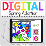 Spring Addition Flower Digital Activity | Distance Learning