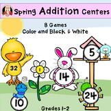 Spring Addition Math Station Games