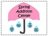 Spring Addition Math Facts Center {FREEBIE}