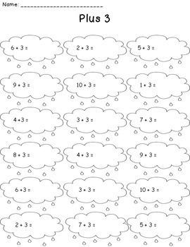 Spring Addition Worksheet Packet Bundle {Just Print & Go!}