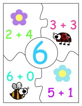 Spring Addition Puzzles