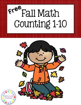 Free! Fall Math Counting 1-10