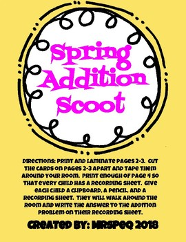 Spring Addition Scoot