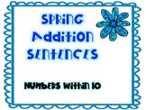 Spring Addition Sentences