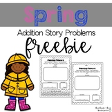 Spring Addition Story Problems FREEBIE