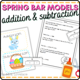 Spring Addition Subtraction Bar Models | Story Problems |