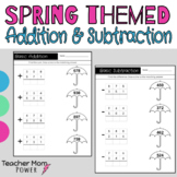 Spring Addition & Subtraction (Basic Facts, without Regrou