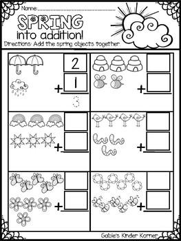 Spring Addition & Subtraction FREEBIE! *Print-N-Go!*