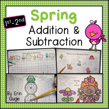 1st & 2nd Grade Spring Addition & Subtraction: Games, Colo