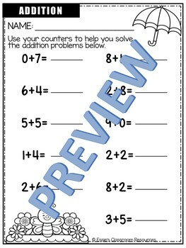 Spring Addition & Subtraction Practice