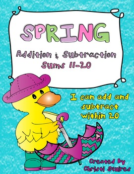 Addition & Subtraction Sums 11-20