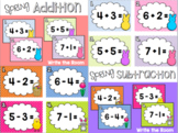 Spring Addition & Subtraction Write the Room