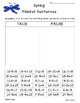 Spring Addition, Subtraction and Mixed Facts True or False Sorting Worksheet