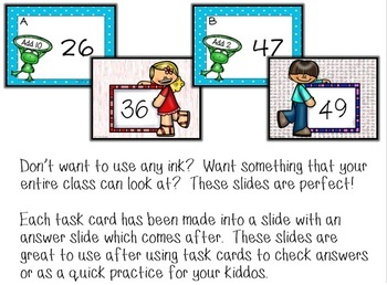 Spring Addition Task Cards and Group PowerPoint