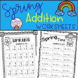 Spring Addition Worksheets