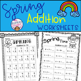 Spring Addition Worksheets