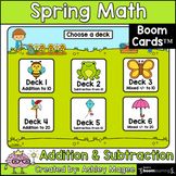 Spring Addition and Subtraction Center - Boom Cards - Digi