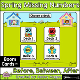 Spring Missing Numbers Boom Cards - Digital Distance Learning