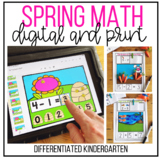 Spring Addition and Subtraction Digital, Hands-on and Prin