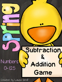 Spring Addition and Subtraction Game