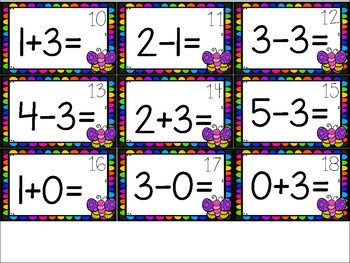 Spring Addition and Subtraction Mixed Practice