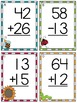 Spring Addition and Subtraction No Regrouping Task Cards