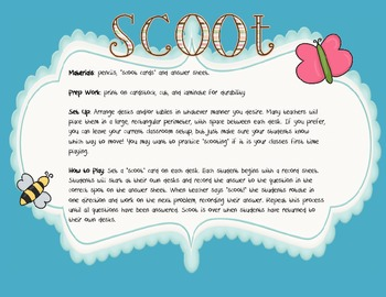 Spring Addition and Subtraction Scoot