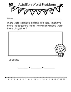 Spring Addition and Subtraction Word Problems K - 2
