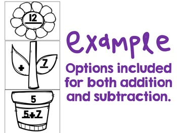 Spring Addition and Subtraction (around the room, puzzles & craftivity)
