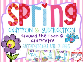 Spring Addition and Subtraction (around the room, puzzles
