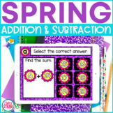 Spring Addition and Subtraction to 20 Game