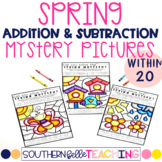 Spring Addition and Subtraction to 20 Mystery Pictures