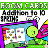 Spring Addition to 10 Math Centers | Digital Game Boom Cards