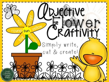 Spring Adjective Flower Craftivity