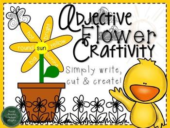 Spring Adjective Flower Craftivity