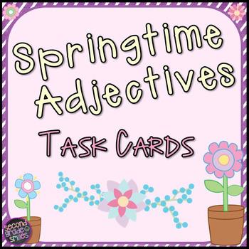 Spring Adjectives Task Cards