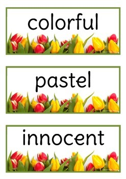Spring Adjectives