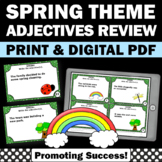 Adjective Task Cards, Spring Literacy Activities