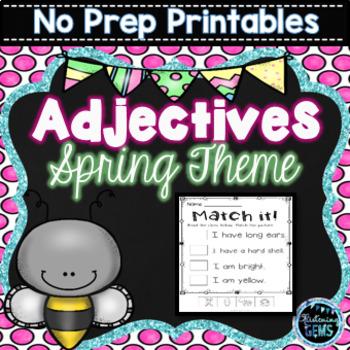 Spring Adjectives Printables & Worksheets