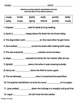 Spring Adverbs!
