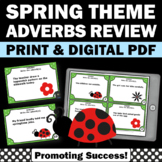 Adverb Task Cards, Spring Literacy Centers
