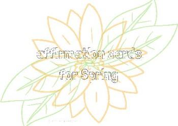 Spring Affirmation Cards