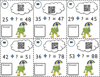 Spring Ahead Addition Task Cards with QR Codes