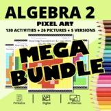 Spring Algebra 2 BUNDLE: Math Pixel Art Activities