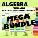 Spring Algebra BUNDLE: Math Pixel Art Activities