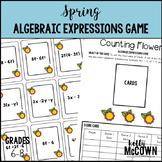 Spring Algebraic Expressions Game