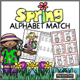 Spring Alphabet Match and Clip