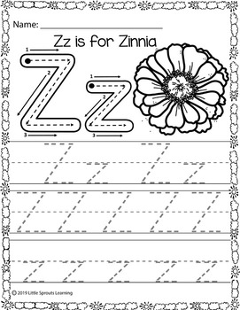 Spring Alphabet Tracing pages